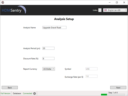 HDM-Sentry - Analysis Setup