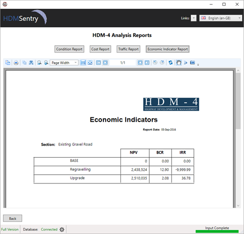 HDM-Sentry - Reporting Economic Indicators