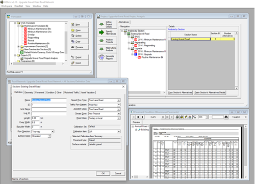 HDM-Sentry - Advanced – View and optimise analysis in HDM-4 Version 2